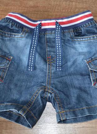 Шорты джинсовые мальчику mothercare р-р 74-80 см, 9-12 мес.
