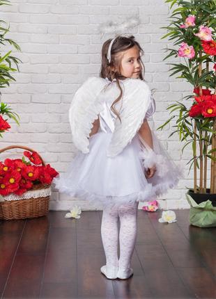 Детский карнавальный новогодний костюм Ангелочка, возраст 4-7 лет