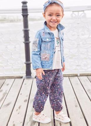 Джинсовая куртка в стиле вестерн с нашивками next (3 мес.-7 лет)