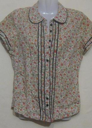 Блузка цветная женская летняя на пуговицах. 40р-р. дешево
