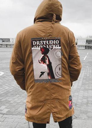 Ветровка мужская с принтом турция коричневая / вітровка куртка...
