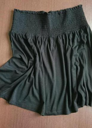Трикотажная юбка h&m на широкой резинке, одежда в стиле кэжуал