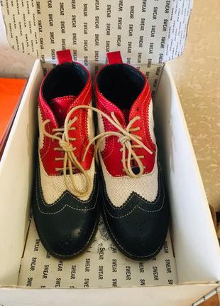 Женские кожаные ботинки 38 р