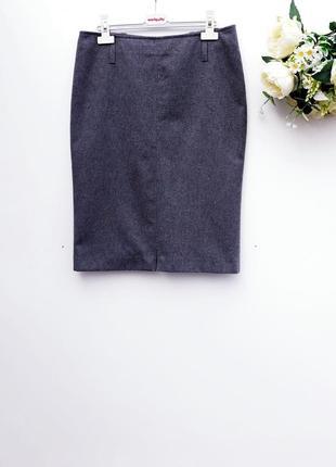 Теплая юбка карандаш шерстяная стильная юбка миди