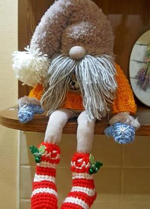 Норвежский гном, интерьерная кукла ручной работы