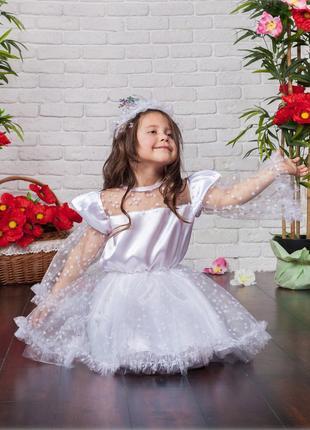 Детский карнавальный новогодний костюм Снежинки, возраст 4-7 лет