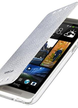 Чехол-книжка Vetti Craft  HTC One mini M4 Hori Cover-white