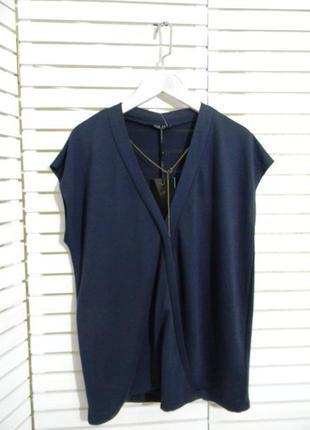 Блуза из плотного трикотажа, топ с декором, l-xl