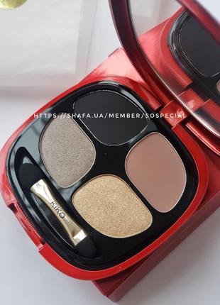 Палитра теней kiko milano magical holiday smoky eyeshadow quad