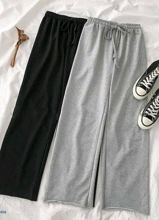 Топовые прогулочные брюки кюлоты ,двунить ,оверсайз, Турция