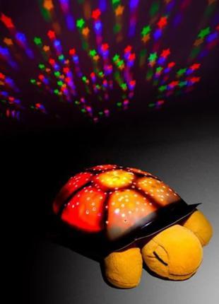 Светильник черепаха музыкальный ночник проектор звездного неба
