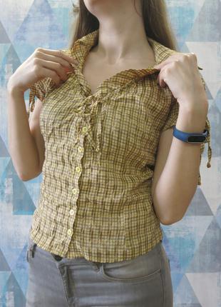 Блуза рубашка в клетку