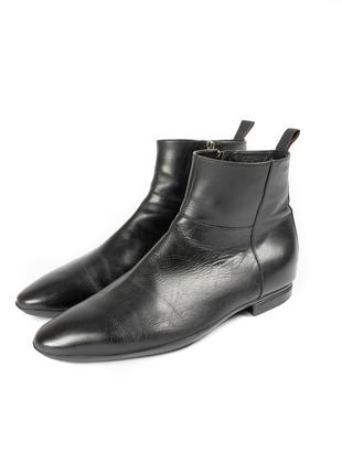 Hugo boss leather сhelsea кожаные ботинки челси сапоги fmh020270