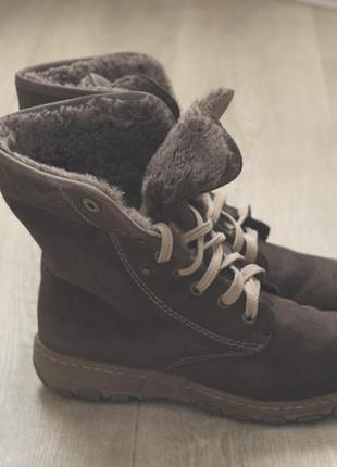 Rieker женские ботинки зимние замша оригинал германия