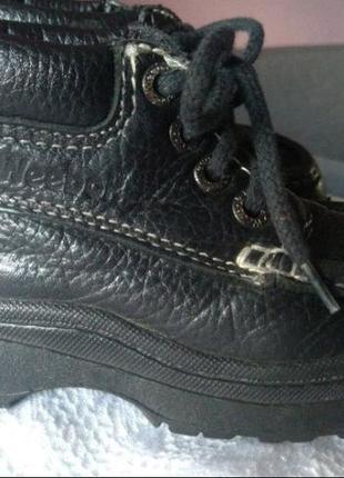 ☃️ акция 🔥 1+1=3 крутые кожаные черные высокие ботинки р. 23