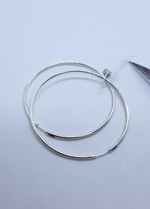 Серьги кольца серебро 925 проба