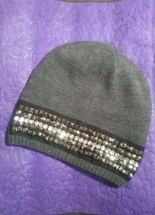 Шапка серая, s.oliver, шапочка