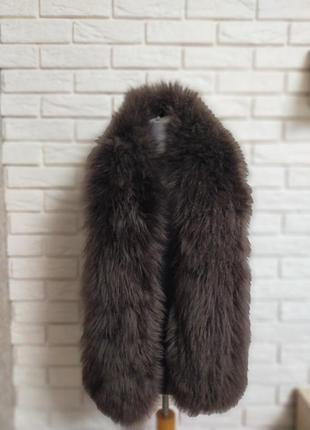 Пушистый шарф воротник мех лама