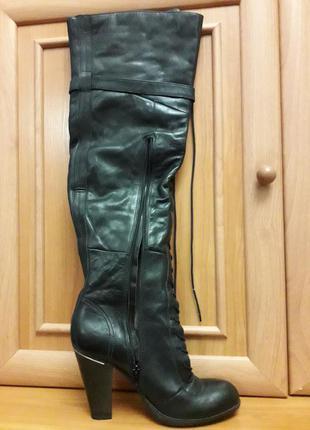 Ботфорты сапоги натуральная кожа, практически новые, 41 размер