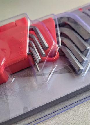 Набор шестигранных ключей Intertool 1,5-10 мм 9 Г-образных