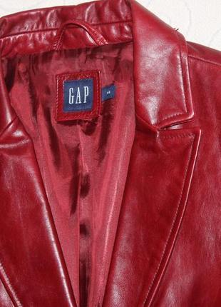 Gap новая кожаная куртка жакет р. м
