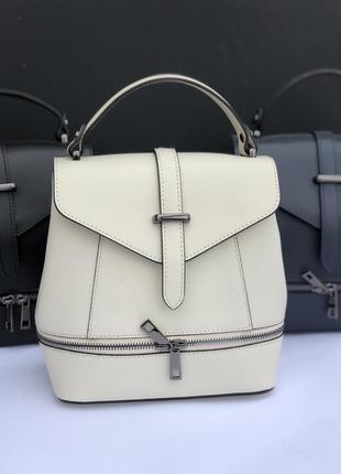 Женский кожаный рюкзак сумка италия жіноча сумка рюкзак італія