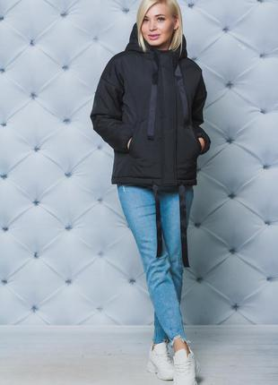 Куртка женская деми черная