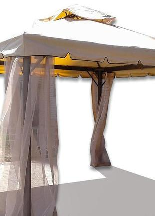 Садовый павильон с москитной сеткой 3х3 м