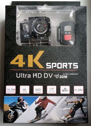 Экшн камера 4К Sports Ultra HD.