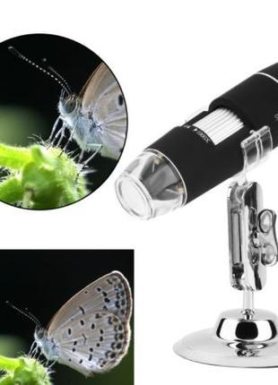 Микроскоп Цифровой USB Zoom с подсветкой на Подставке!