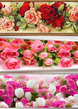 Алмазная вышивка,мозаика 5d, наборы,цветы, розы, стена, хобби,дек