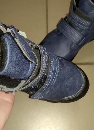 Осень ботинки мальчику теплые деми