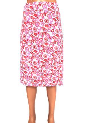Летняя юбка цветочный принт M&S, L