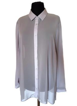 Шифоновая блузка с плиссированной спинкой, XXL