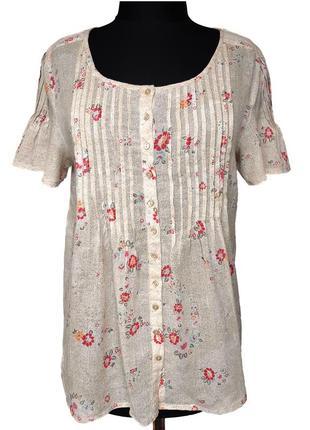 Чудесная летняя блузка цветочный принт