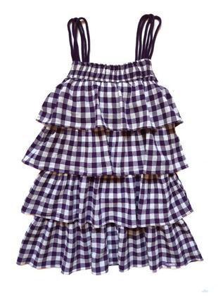 Классное летнее платье сарафан в клетку Mexx, 140