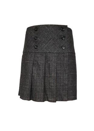 Шерстяная юбка в клетку Benetton, S