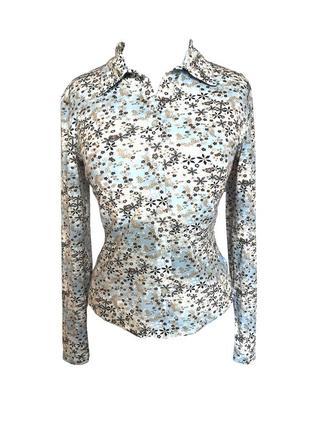 Трикотажная блузка с длинным рукавом