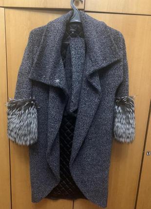 Женское пальто с чернобурки от samang italy