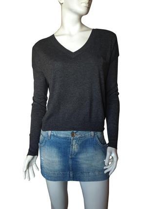 Стильный пуловер оверсайз с ангорой Next, S