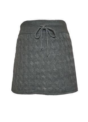 Вязаная юбка H&M, M