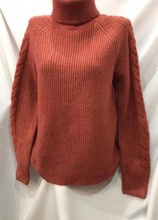 Теплый женский свитер гольф размер 46-50 цвета