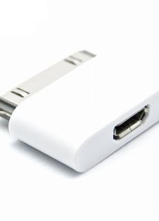 Переходник Apple iPhone Micro USB для iPhone ipad 4,4S,3G/S (адап
