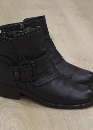 Marco tozzi черные женские зимние ботинки кожа оригинал  супер...