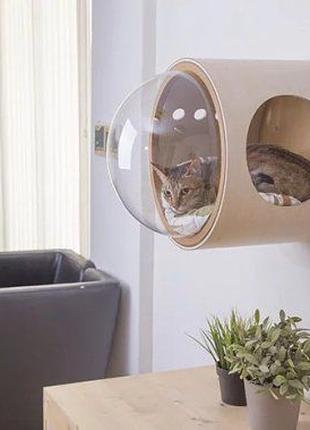 Кошачья спальня-домик (космическая капсула)