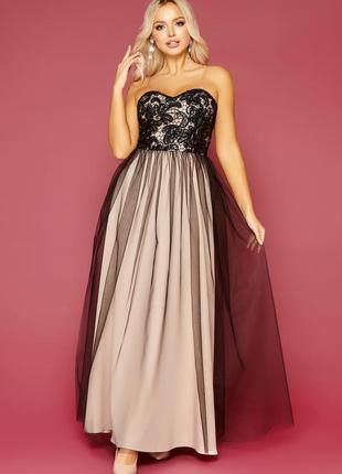 Роскошное платье с открытыми плечами