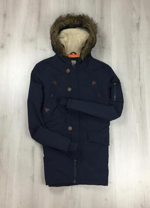F9 зимняя парка темно-синяя brave soul ветровка куртка с капюш...