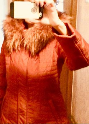 Куртка-пуховик  LEADART. Размер М Цвет: терракотовый