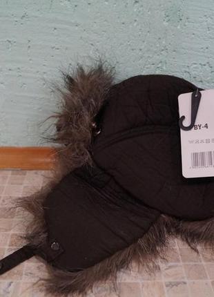 Зимняя шапка на мальчика 2-4 года