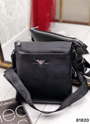 Кожаная сумка мужская на плечо